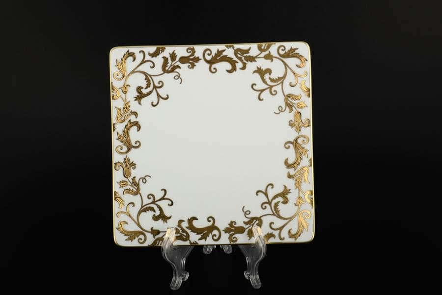 Tosca Black Gold Набор тарелок квадратные FalkenPorzellan 21 см