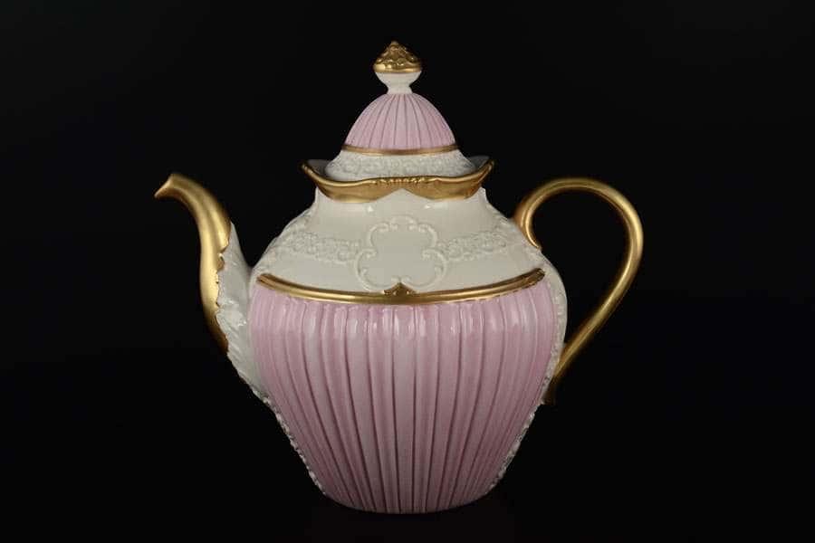 CATTIN Чайник заварочный розовый фарфоровый Италия