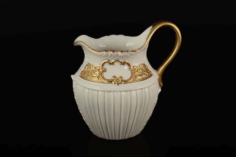 CATTIN белый с золотом Молочник фарфоровый Италия