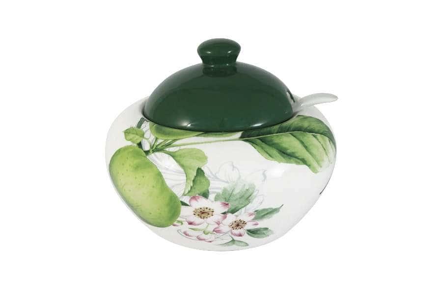 Сахарница с ложкой Зеленые яблоки INFINITY Китай