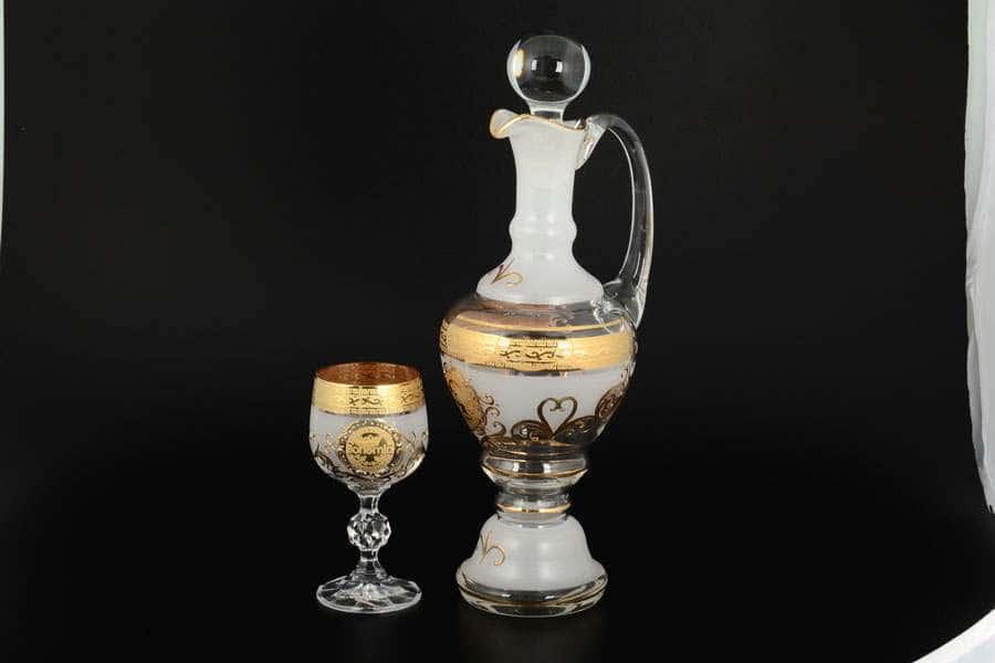 B-G Набор для ликера из стекла Чехия 7 предметов