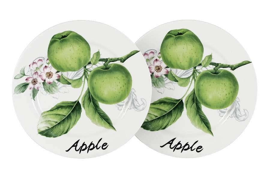 Набор из 2-х тарелок Зеленые яблоки