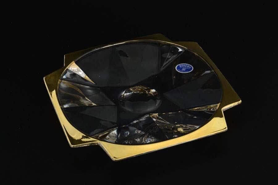 R-G Ваза для конфет квадратная из стекла Bohemia 21,5 см