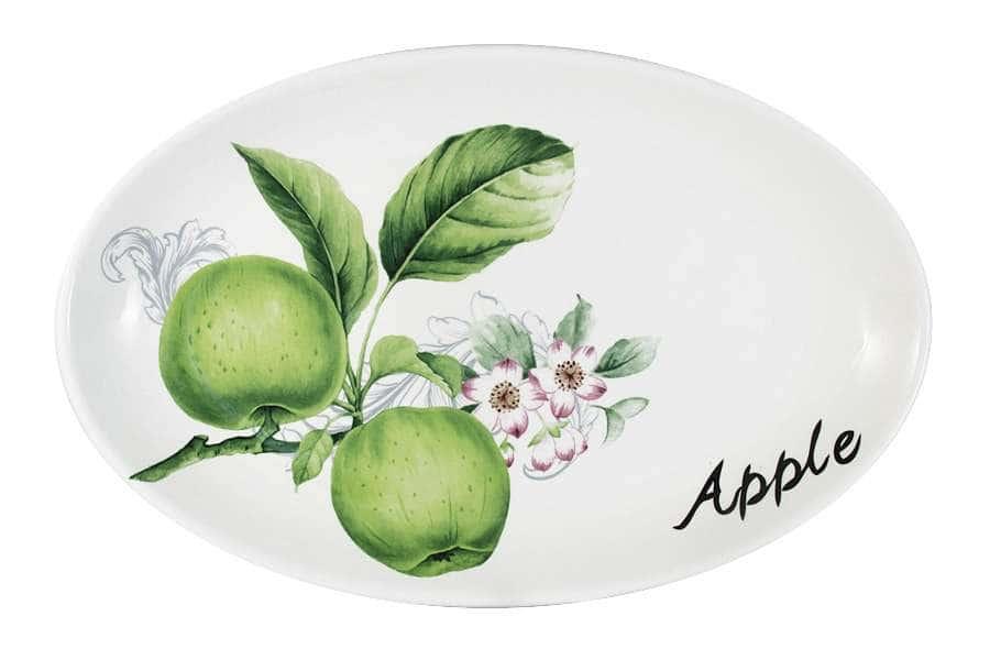 Блюдо овальное Зеленые яблоки INFINITY Китай