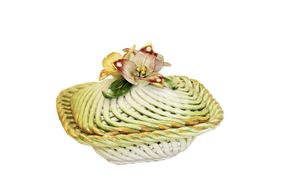 Шкатулка декоративная в виде корзины Lanzarin Италия