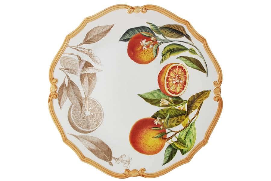 Блюдо круглое Апельсины LCS Италия