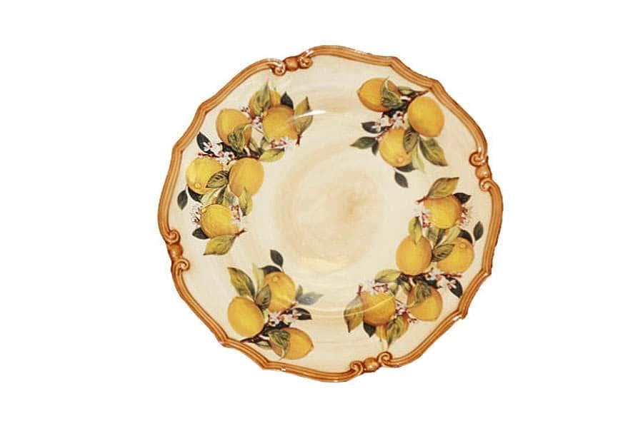 Блюдо круглое Итальянские лимоны LCS Италия