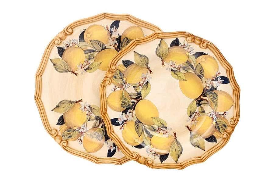 Набор тарелок: суповая и обеденная Итальянские лимоны  LCS
