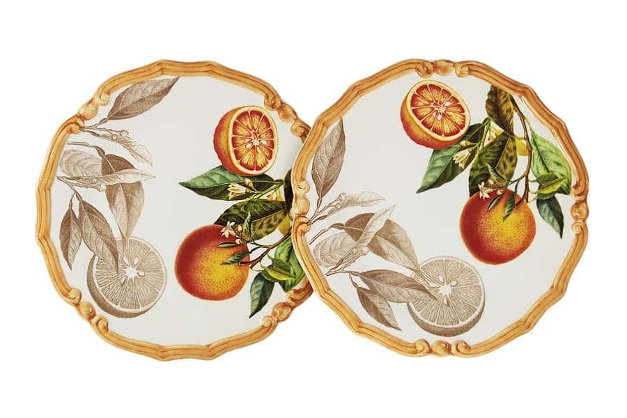 Набор из 2-х десертных тарелок Апельсины