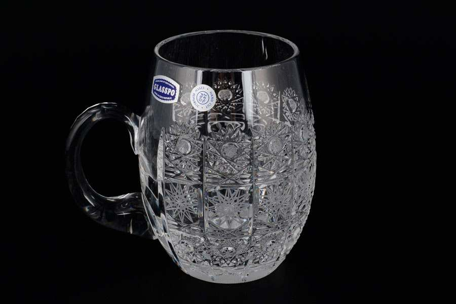 Glasspo Пивная кружка хрустальная Богемия Чехия  300 мл