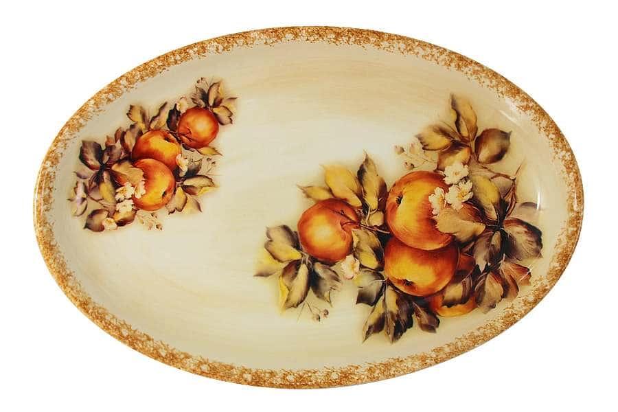 Блюдо овальное Зимние яблоки LCS Италия