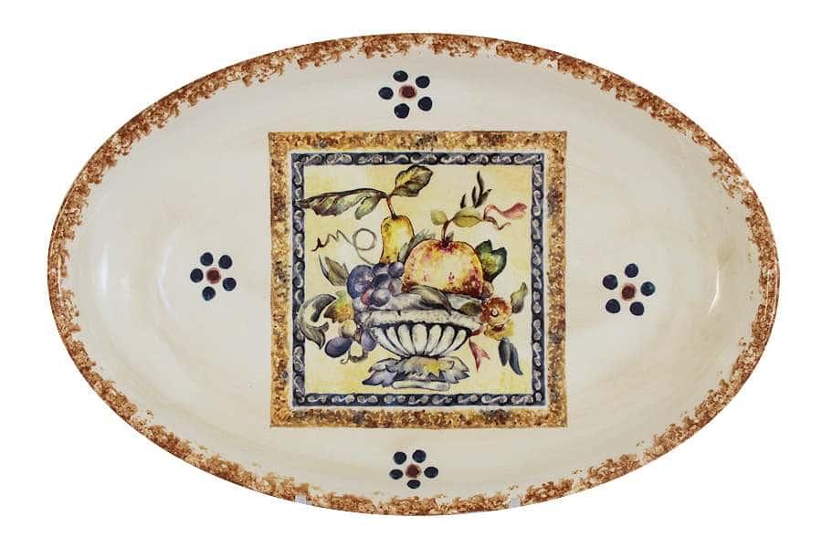 Блюдо овальное Старая Тоскана LCS Италия
