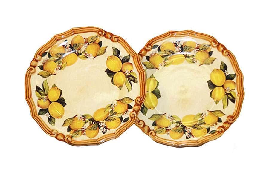 Набор из 2-х десертных тарелок Итальянские лимоны LCS