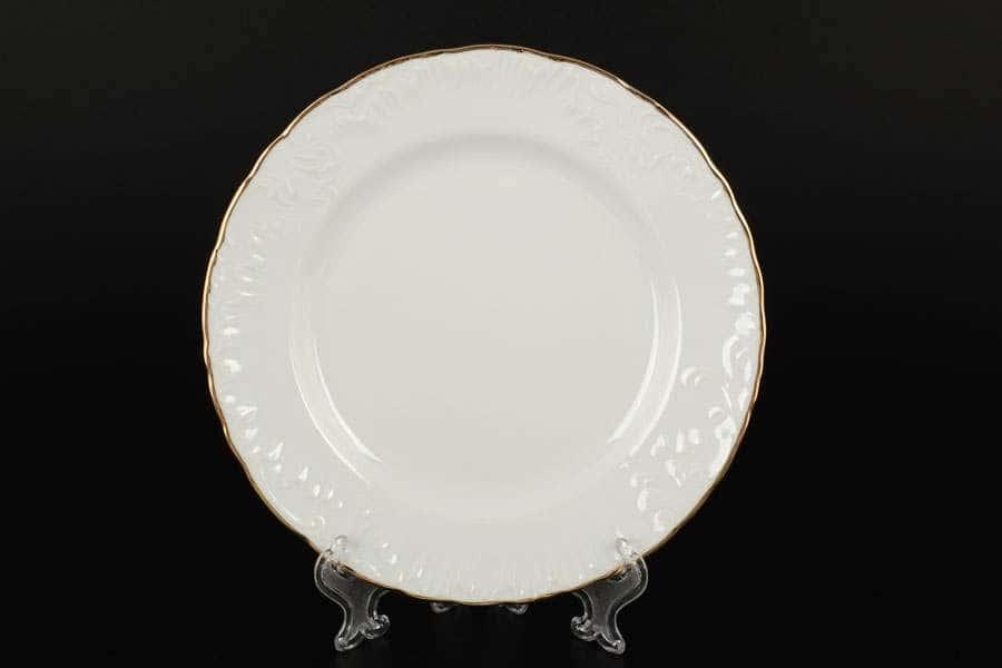 Рококо Отводка золото Набор тарелок Royal Czech Porcelain 19 см