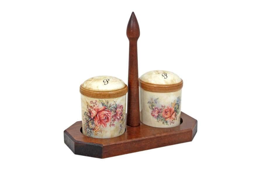 Набор для специй на деревянной подставке Элианто
