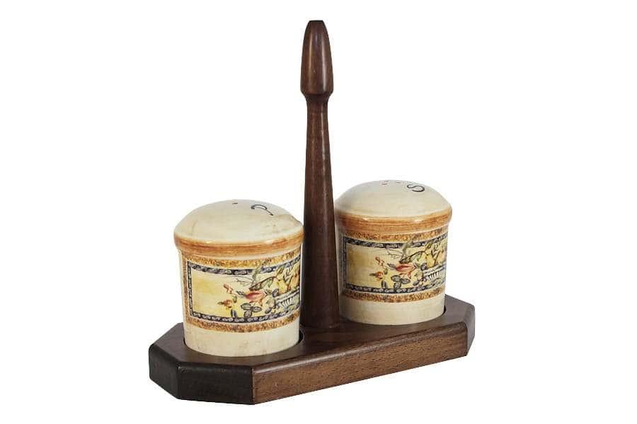 Набор для специй: солонка и перечница на подставке Старая Тоскана