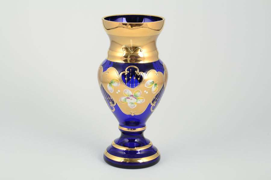 Лепка синяя S-A Ваза для цветов Богемия 21 см