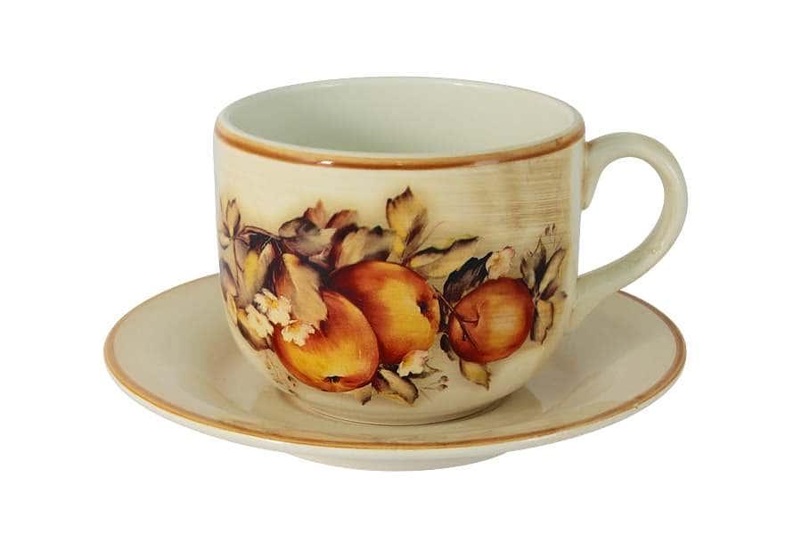 Чашка с блюдцем Зимние яблоки