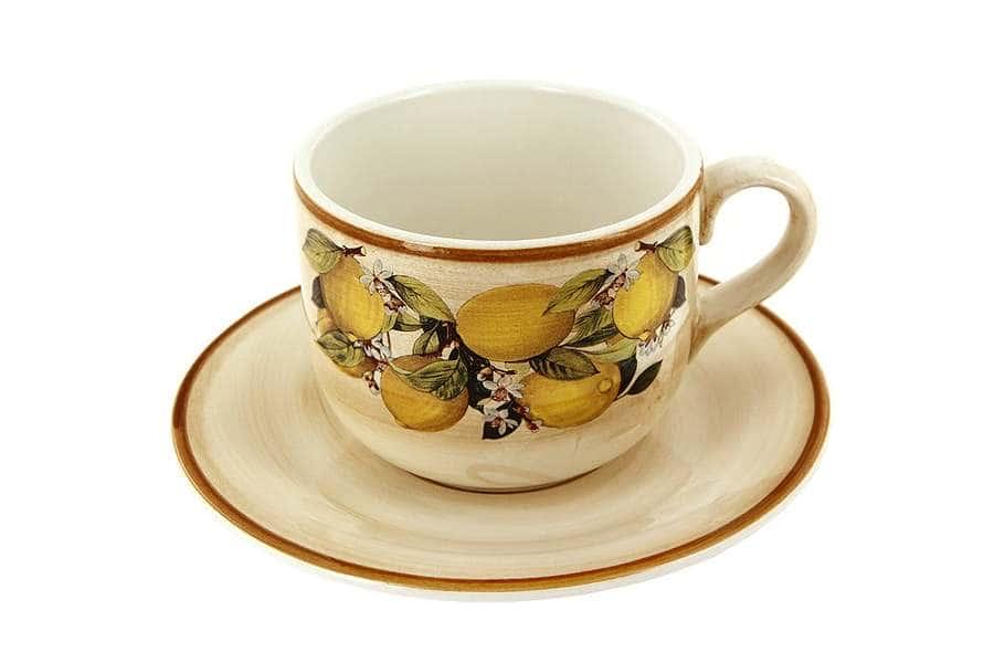 Чашка с блюдцем Итальянские лимоны