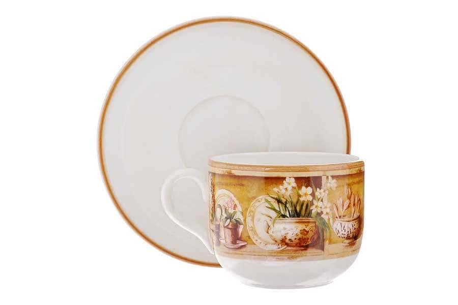 Чашка с блюдцем Кантри