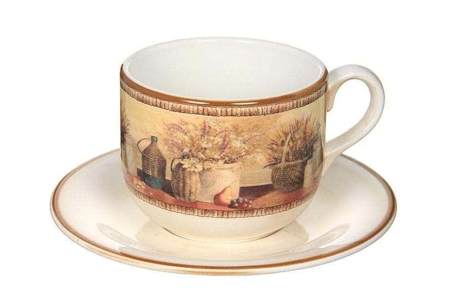 Чашка с блюдцем Натюрморт