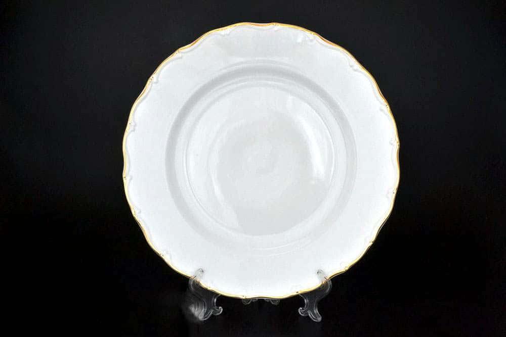 Офелия Отводка золото Блюдо круглое MZ 30 см