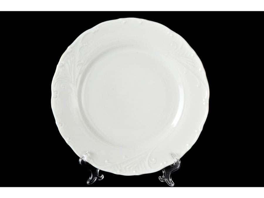 Лиана Белый узор Набор тарелок MZ 19 см
