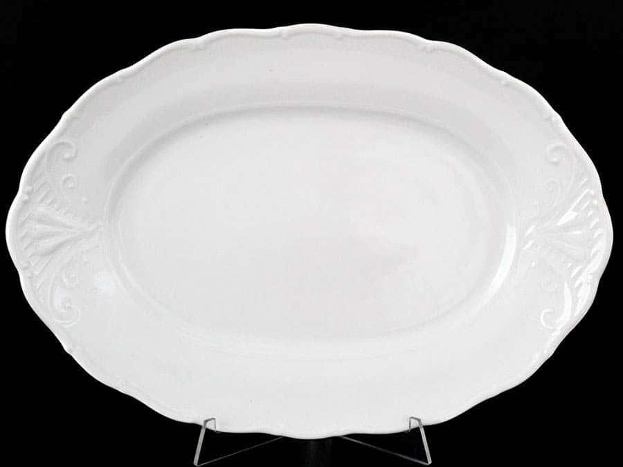 Лиана Недекорированный Блюдо овальное MZ 32 см