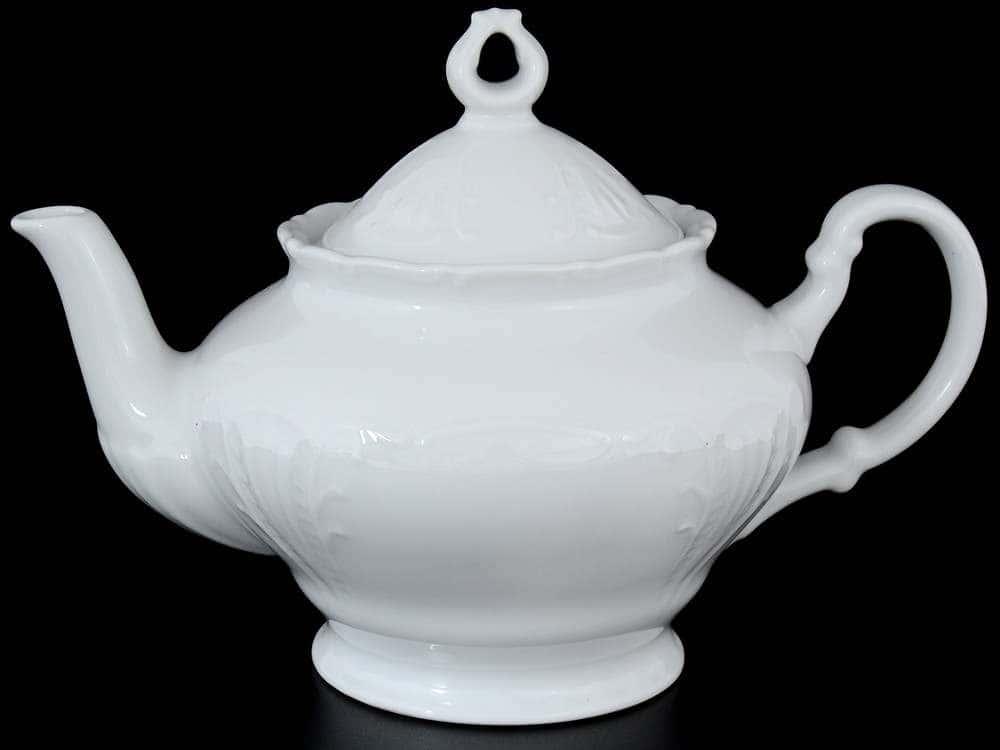 Лиана Недекорированный Чайник из фарфора MZ 1,2 л
