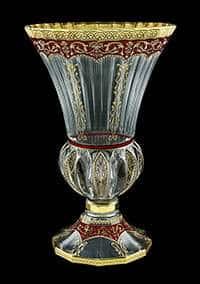 Ваза для цветов 35 см Адажио Империя красная