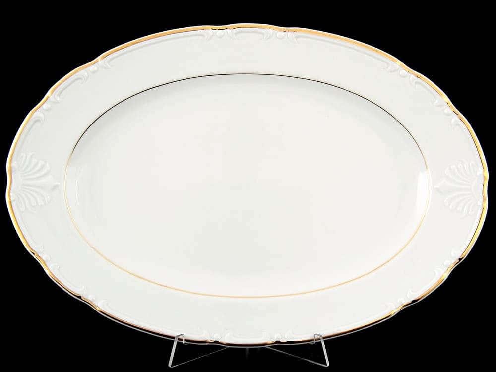 Блюдо овальное 39 см Констанция Отводка золото