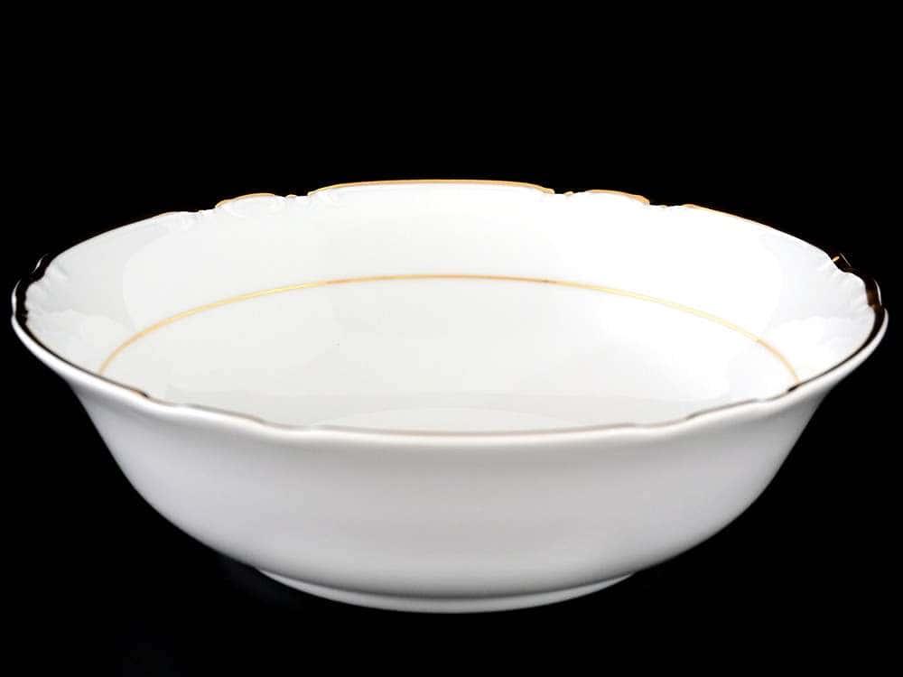 Констанция Отводка золото Салатник круглый Thun 23 см