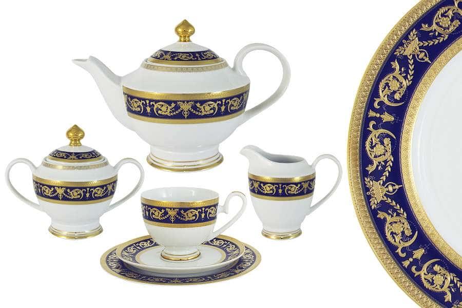 Чайный сервиз Императорский (кобальт) 23 предмета на 6 персон Midori Китай