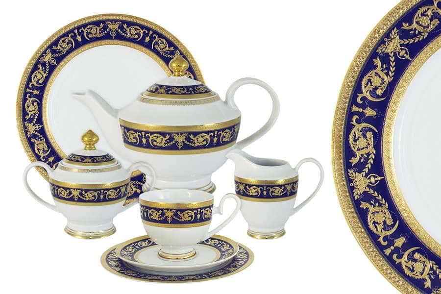 Чайный сервиз Императорский (кобальт) 42 предмета на 12 персон Midori Китай