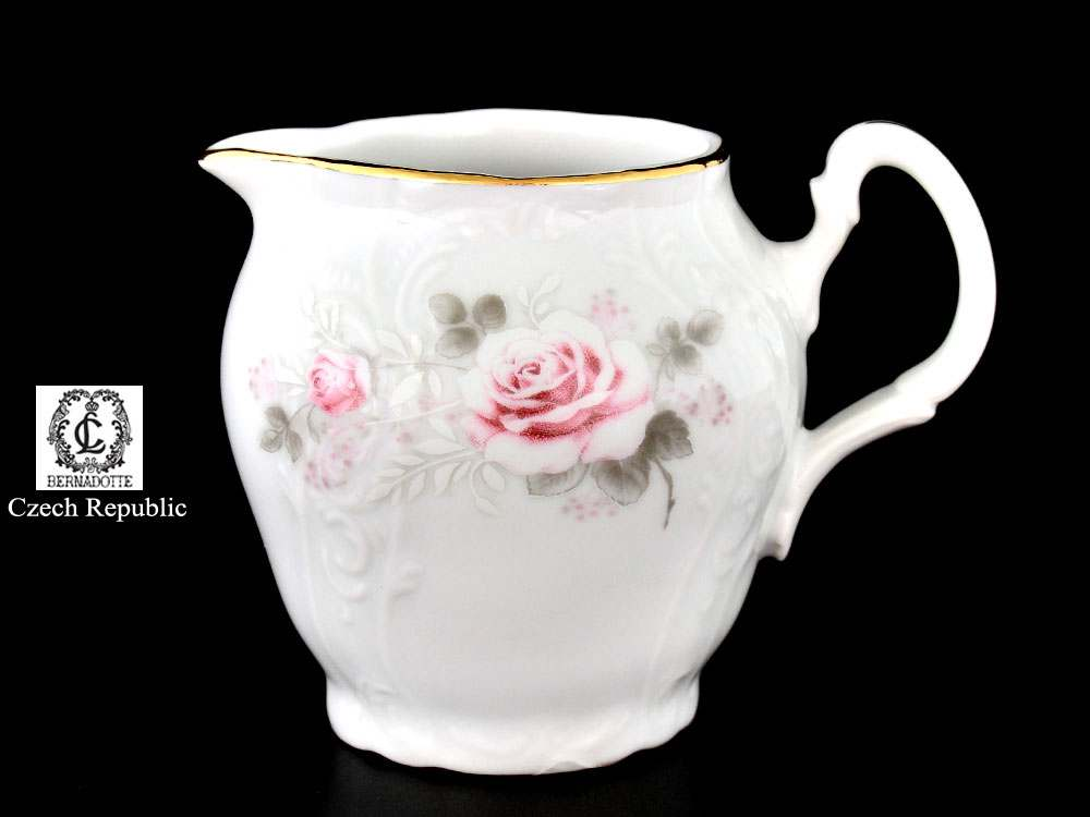 Бернадотт Серая роза золото Молочник из фарфора 180 мл