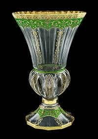 Ваза для цветов 35 см Адажио Империя зеленая