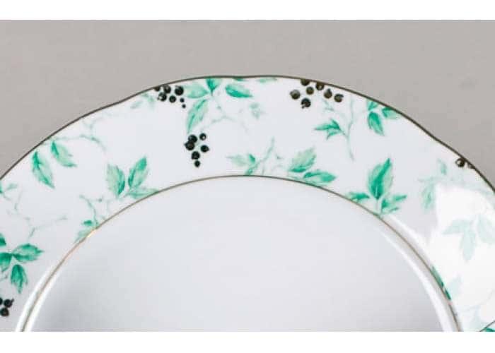 Блюдо круглое 30 см Мэри-Энн,Зеленые листья