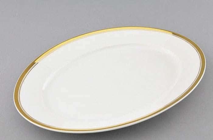 Блюдо овальное 32 см, Сабина, Отводка золото