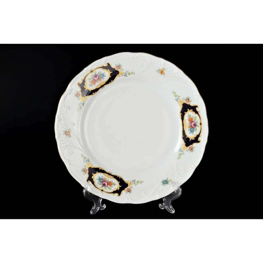 Лиана Синий глаз Набор фарфоровых тарелок MZ 19 см