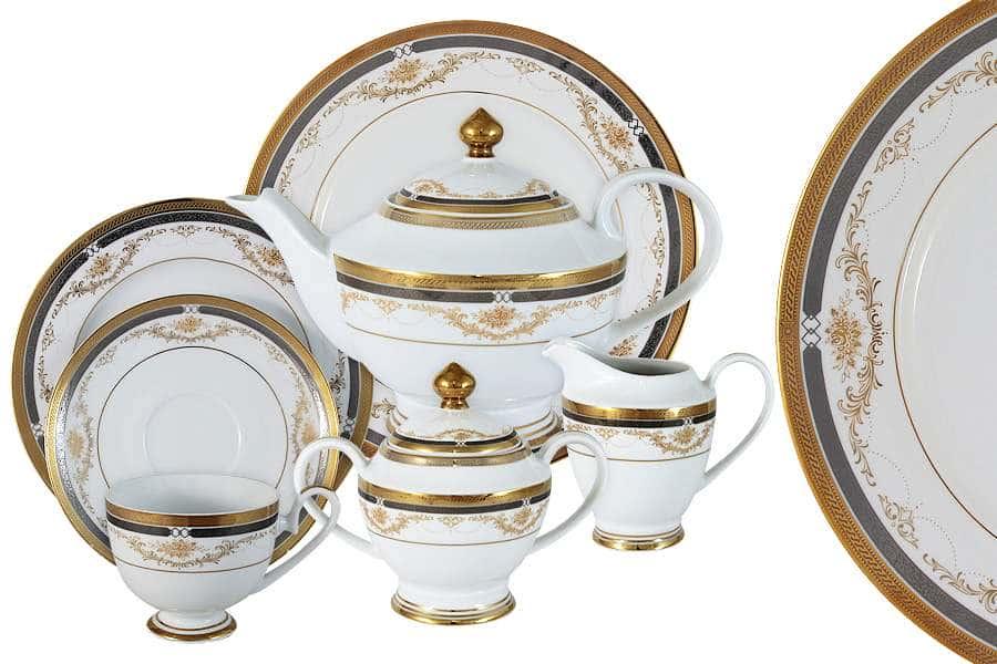 Чайный сервиз Петергоф 42 предмета на 12 персон Midori Китай