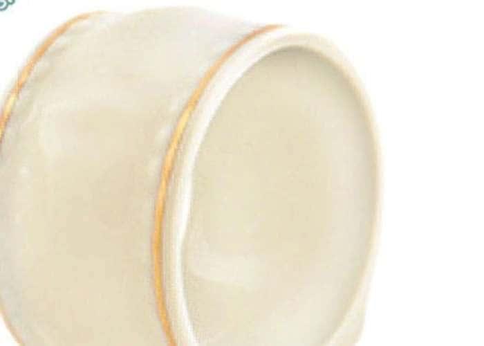 Кольцо для салфеток большое, Соната, Золотая лента, Слоновая кость
