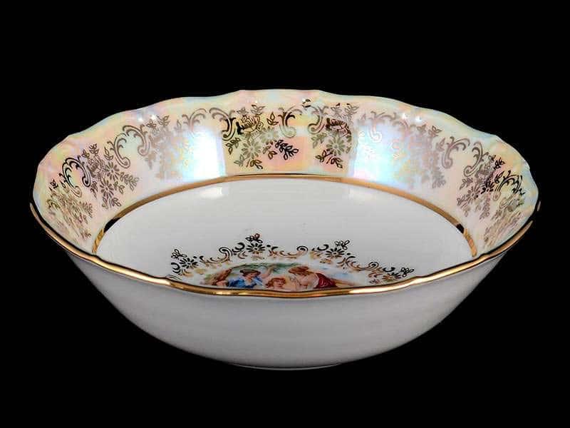 Мадонна Перламутр Набор салатников Royal Czech Porcelain 13 см 6 предметов