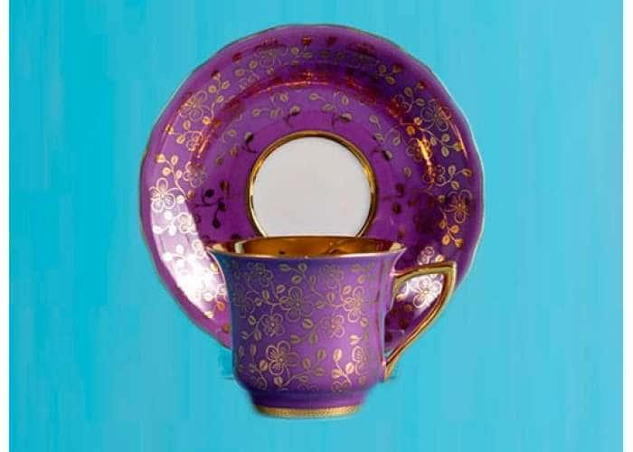 Чашка высокая 0,10л. Виндзор Золотые цветы