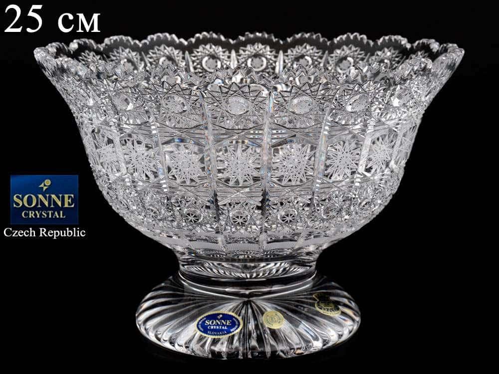 Фруктовница 25 см Sonne Crystal