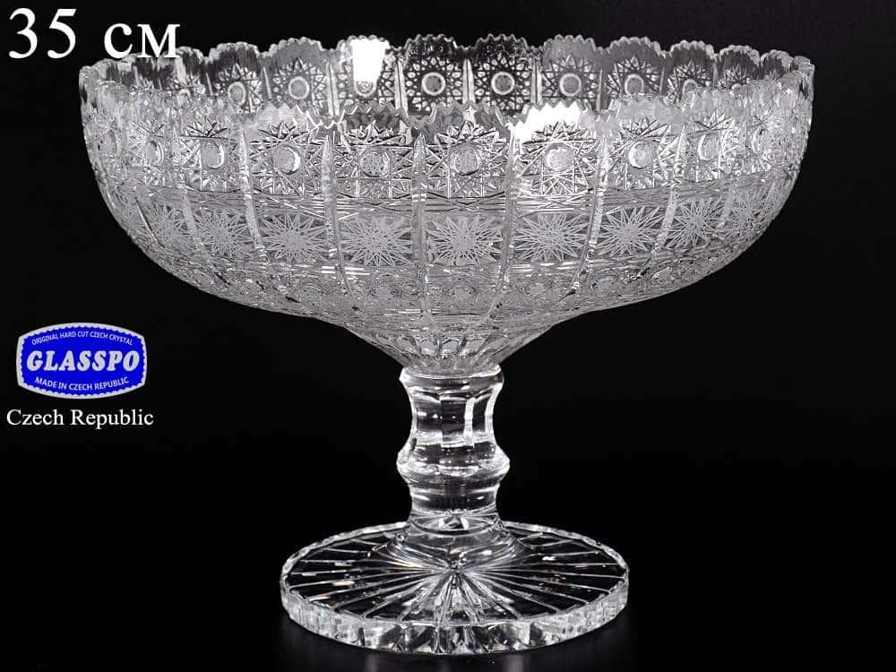 Фруктовница 35 см Glasspo
