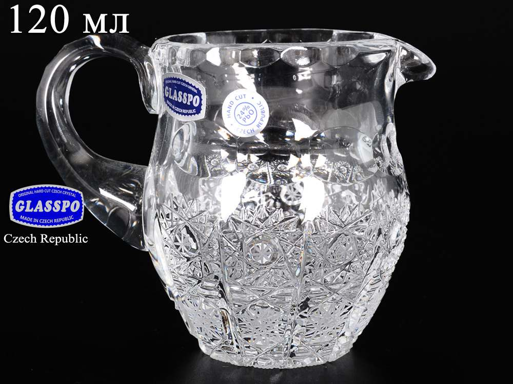 Glasspo Молочник из хрусталя 120 мл