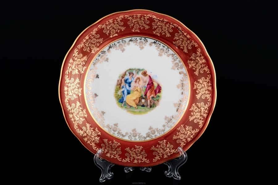Красная Мадонна Набор тарелок Royal Czech Porcelain 19 см