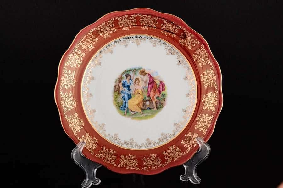 Красная Мадонна Набор глубоких тарелок Royal Czech Porcelain 23 см