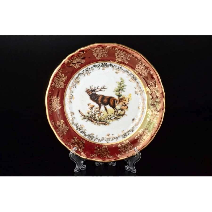 Фредерика Охота Красная Набор тарелок Carlsbad 19 см