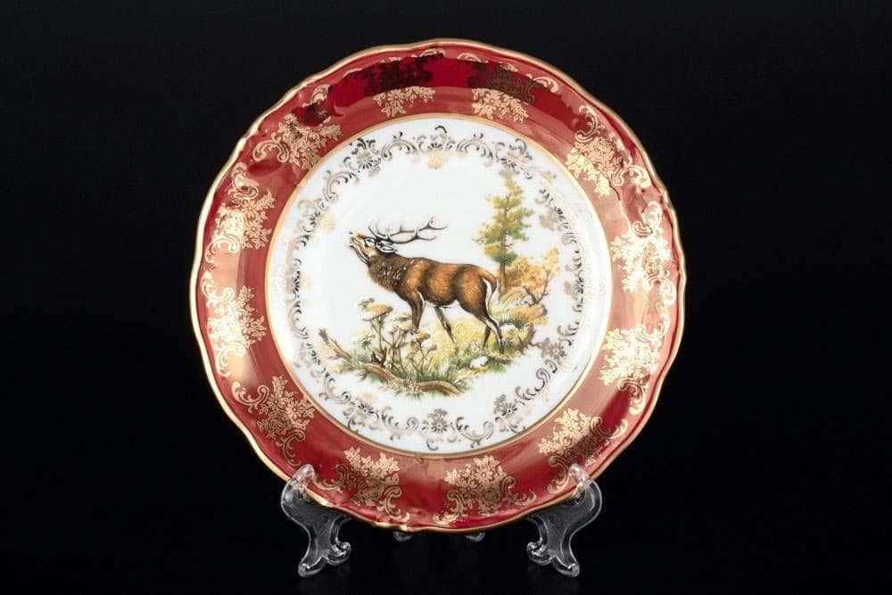 Фредерика Охота Красная Набор тарелок Carlsbad 17 см
